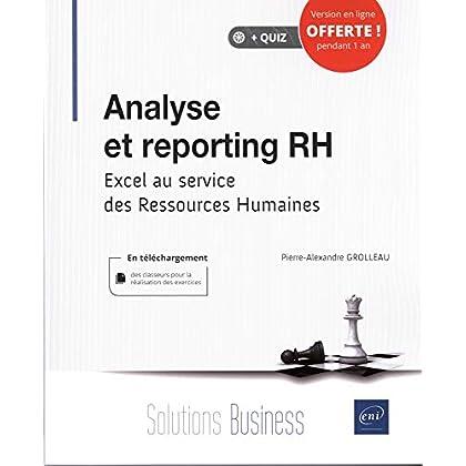 Analyse et reporting RH - Excel au service des Ressources Humaines