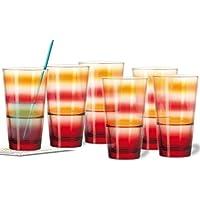 Leonardo – Juego de vasos (/6 Rojo/Naranja Event M. Gratis Deko