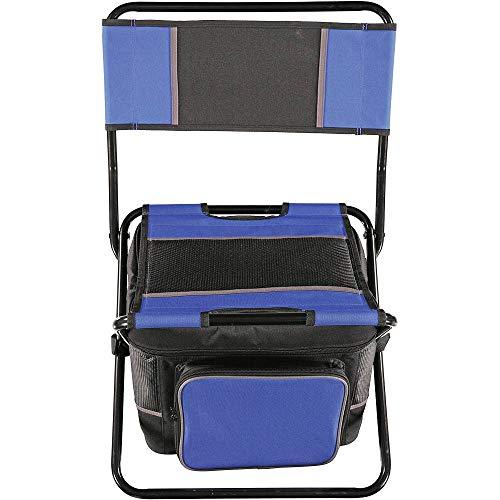Tony Brown | Camping Stuhl mit Kühltasche | 34 x 27 x 28cm | 80kg Tragkraft | (Blau)