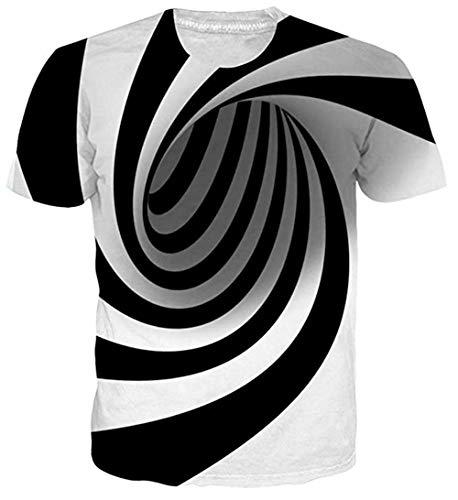 uideazone Cool 3D Galaxis Tee Tops Neuheit Männer Rundhals T-Shirt - Mädchen Graphic T-shirt