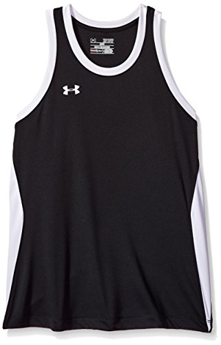 Under Armour Women's Recruit Sleeveless Tank Top Shirt, Black (001)/White, X-Small