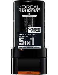 L'Oreal Men Expert Carbon Clean Duschgel, für Körper, Gesicht und Haare (2 x 300 ml)