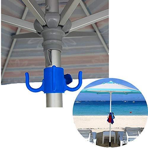 Yunhigh Aufhängehaken für Sonnenschirm, 2 Stück Aufhänger Kunststoff Handtuch hängen Aufbewahrungshut kleiden Sunglasse Tasche für Strand Camping Garten -