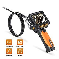 Endoskopkamera DEPSTECH Industrie Endoskop LCD Digitale Hand Inspetionskamera Kamera Wasserdicht 8.2 mm Durchmesser mit der Zoomfunktion (3M)