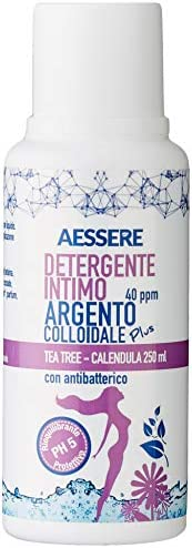 Aessere Argento Colloidale Plus Detergente Intimo, 250 ml Tea Tree, Calendula 40 Ppm