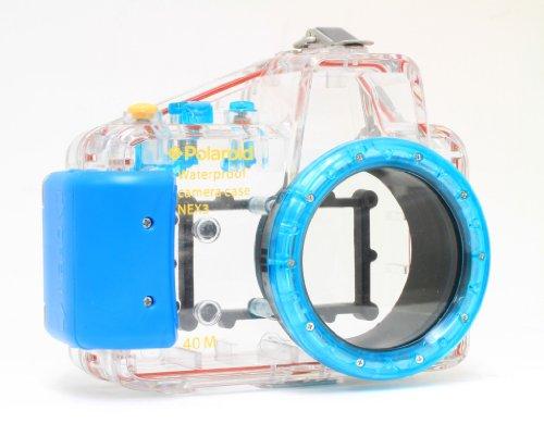 Polaroid Dive Unterwassergehäuse für Sony Alpha NEX-3 Digitalkamera mit 16 mm Objektiv