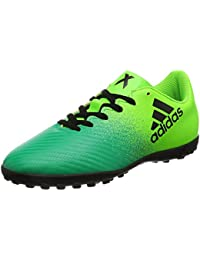 adidas X 16.4 TF J - Botas de fútbolpara niños, Verde - (VERSOL/NEGBAS/VERBAS), 35