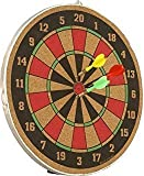 #4: (Plus Free Hand Grip ) 16 Inch Double Sided Wooden Dart Board With Three Arrows By Forever Online Shopping
