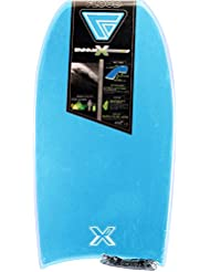 FLOOD Dynamx Eps Str Bb W/Stringer Bodyboard, Unisex adulto, Cyan / Blanco, 40
