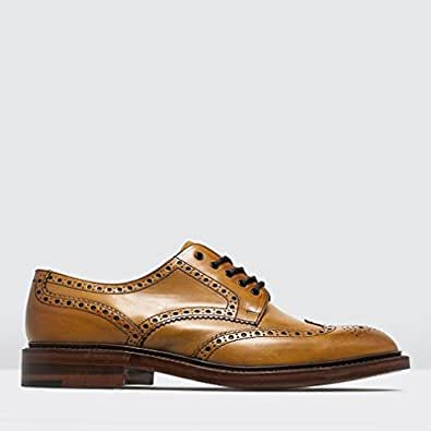 Chester Leather Brogue Shoes 6 Tan