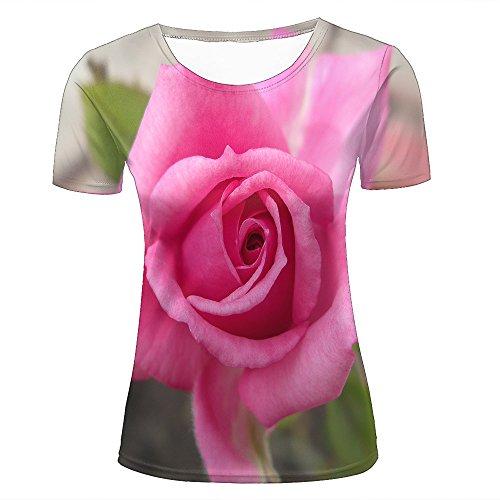 Mens 3D Printed T-Shirts Brilliant Brilliant Roses Graphics Couple Tees C