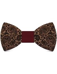 Territorial Pajarita de madera Sunshine. Colección de moda hombre: Confeccionada en España Wood. Línea boda y eventos. Regalo elegante y…