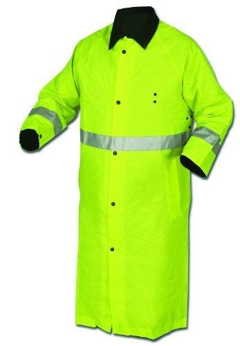MCR Safety 7368CRXL Luminator PVC/Nylon Reversible Coat with 2-Inch Silver Stripe, Lime/Black, X-Large by MCR Safety Nylon Reversible Coat