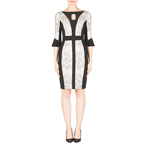 Joseph Ribkoff Floral and Pearl Accented Dress Style 183568