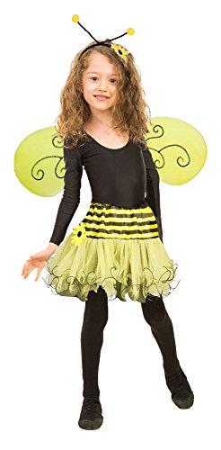 �r Mädchen - Tolles 3-tlg. Kostümset für Fasching oder Karneval (Teen Kostüme Biene)