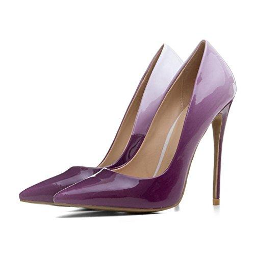 pompe Stiletto Dito piede Inteligente 42 Sexy del appuntito Chiuso Donna Scarpe Vestito alto Lavoro 35 Tacchi Purple Dimensione Pendenza gfwxnxWpq