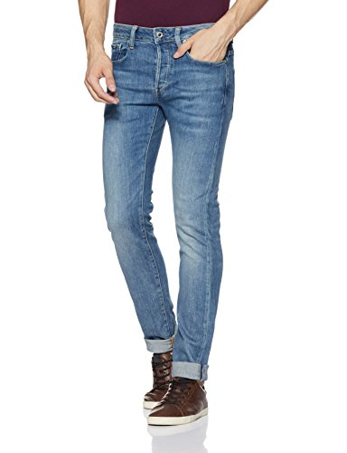 G-STAR RAW Herren 3301 Slim Fit' Jeans, Blau (lt aged D004-424), 32W/32L