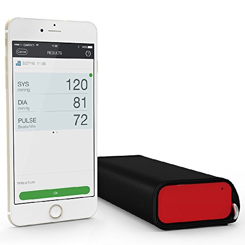 Qardio QardioArm - Monitor de presión sanguínea inalámbrico, color rojo vibrante