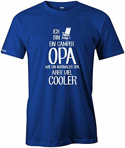 Ich bin ein Camper Opa - Wie ein normaler Opa aber viel cooler - Herren T-SHIRT by Jayess Royalblau