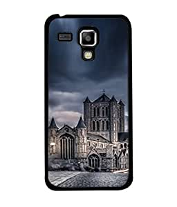 PrintVisa Designer Back Case Cover for Samsung Galaxy S Duos S7562 (Photo Sunset Evening Lights Bridge Rocks Structure)
