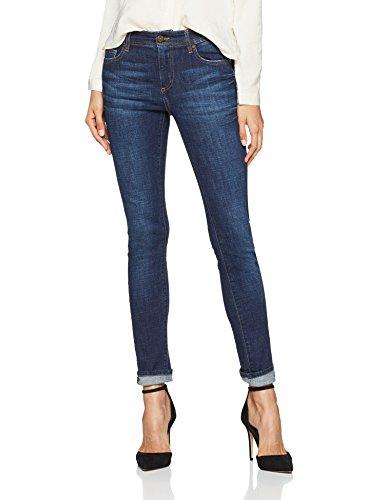 Versace Jeans Damen Hose Lady Trouser Blau (Indigo E904) 36 (Herstellergröße: 29)