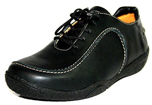 Theresia Muck , Chaussures de ville à lacets pour femme Beige Beige Beige - Schwarz (schwarz 000)