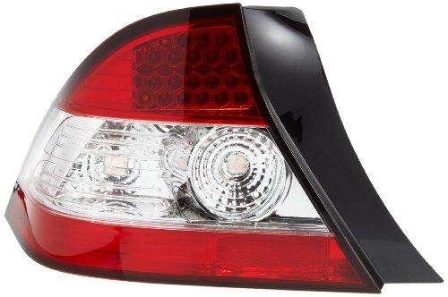 FK Automotive FKRLXLHO115 - Set fanali posteriori a LED per Honda Civic 2 porte, tipo EP1.234/EU.789/EV1, anno di costruzione 04-05, colore: Chiaro/Rosso