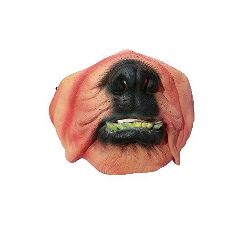 ustige Scary Schreckliche Maske Halloween Dummkopf Tag Latex Maske Cosplay Kostüm Halbe Gesichtsmaske Shapi Hund (Schreckliche Masken)