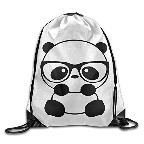 ZabJor Panda Nerd Cute Sketch Animal Cool Drawstring Backpack