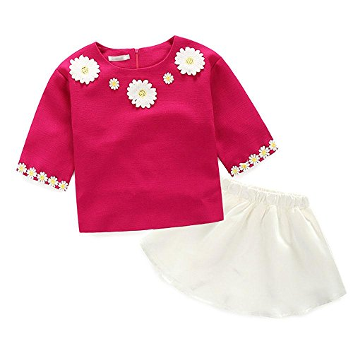 Robe petite mariée Princesse Princesse + jupe Robes , rose red , 120cm (Nice Girl Dress Up)