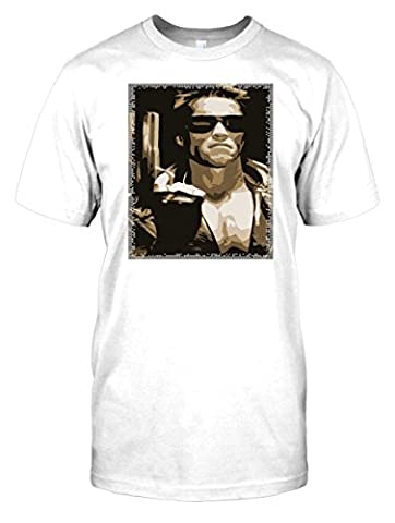Arnie Terminator - Sepia - Kids T-Shirt - White - Small