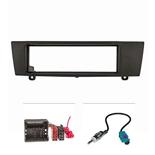 tomzz Audio 2404-047 Radioblende Set passend für BMW 1er 3er X1 Z4 mit Quadlockadapter ISO, Fakra Antennenadapter DIN, Can-Bus Modelle -