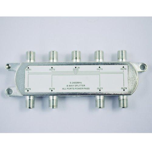 Iycorish 8 Wege TV Hochfrequenz Koaxial Kabel Teiler für CATV Signal 8-wege-koaxial Kabel