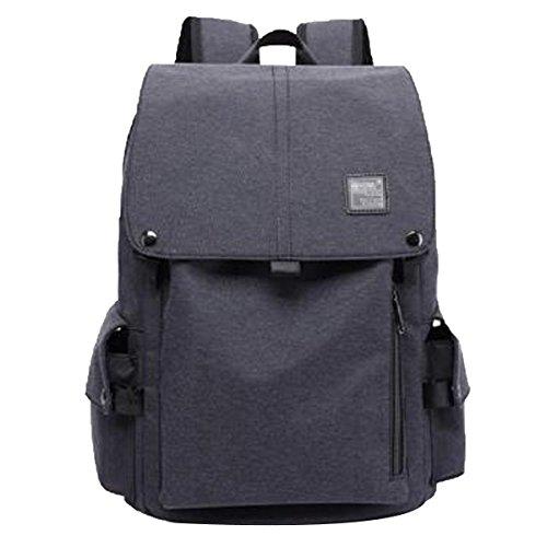Backpackers Herren Schultertaschen Reisetaschen Business Casual Rucksäcke Canvas Taschen Student Computer Taschen,Black-M