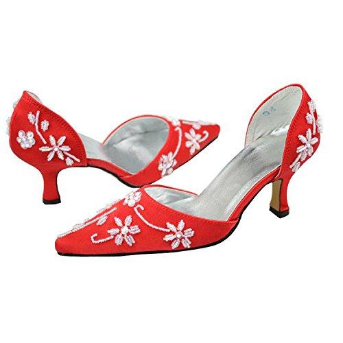 Kevin Fashion , Sandales Compensées femme Rouge - rouge