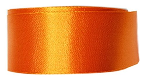 B P & alta qualità-Nastro di raso Double-Face, in poliestere, colore: arancione, 38 mm x 25 m