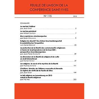 Feuille de Liaison de la Conference Saint-Yves