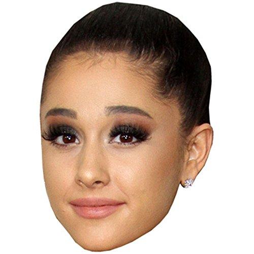 Ariana Grande Kostüm - Celebrity Cutouts Ariana Grande Maske aus Karton