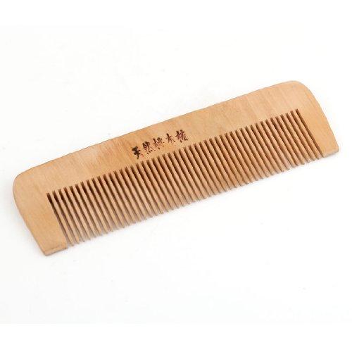sourcingmap® 2mm Dents En Bois Naturel Denté Soin Des Cheveux Peigne