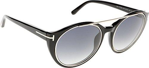 Tom Ford Damen FT0383 5201W Sonnenbrille, Schwarz, 52