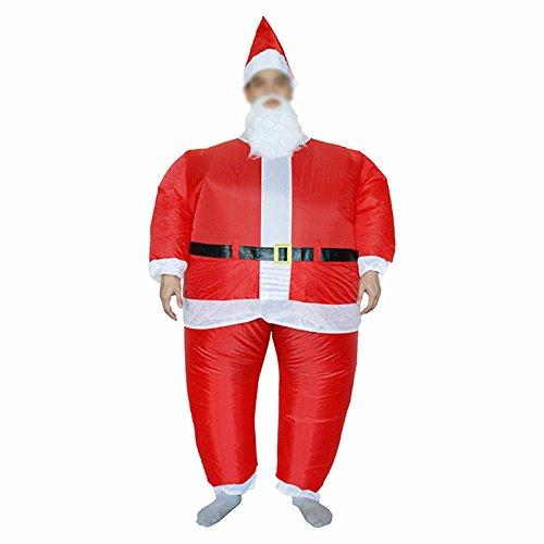 V.POINT Aufblasbare Weihnachtsfest Erwachsene Aufblasbare Santa Cosplay Kostüm