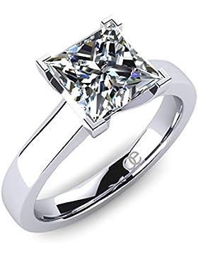 Moncoeur Diamonds Damen-Ring Tendresse 925 Sterlingsilber Swarovski Prinzess-Schliff