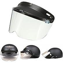 Alamor Universal Moto Casco Flip Up Visera Modelo Transparente Botón De Viento Lente Uv Solar 7.9