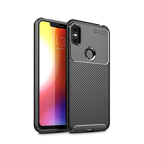 KuGi Motorola One Hülle, Kratzfeste Hülle Motorola One Schutzhülle Soft TPU Case Ultradünn Cover [Slim-Fit] [Anti-Scratch] [Shock Absorption] für Motorola One Smartphone. schwarz