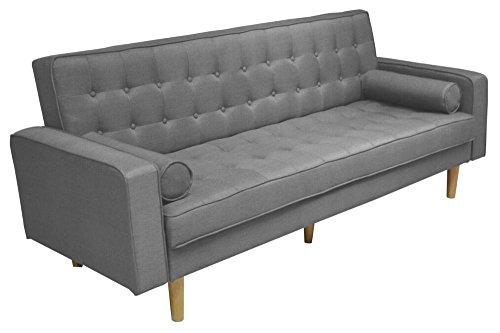 Sofa-Schlafcouch-Helsinki-grau-graphit-Convertible-skandinavischer-Stil