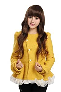 L-email 65cm long Dark brown fashion Small wave women wig synthetic afro wig XFS46A