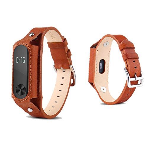 pinhen Xiaomi Mi Band 2, in pelle cinturino da polso