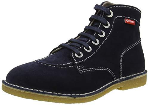 Kickers Orilegend, Zapatos de Cordones Derby para Mujer, Azul Marine Perm 10, 38 EU