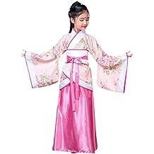 XFentech Hanfu Stile Cinese - Costume da Ragazza Festa Retrò In Costume da  Principessa 30f0e2140277