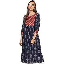 FRILLE Women's Cotton Anarkali Kurta